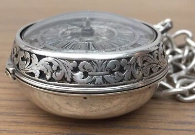 Rare early verge Pocket Watch.                            Joseph Antram c1710