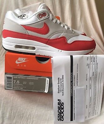DS NIKE AIR MAX 1 OG 30th ANNIVERSARY RED LESS THAN 500