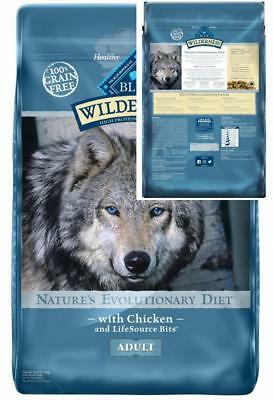 Blue Buffalo Wilderness High Protein Grain Free, Natural Adult Dry Dog Food,...