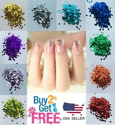 Nail Glitter Mix Chunky Dots Multi Sizes 1/3/4 mm BUY 2 GET 1 FREE Free shipping