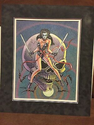 RARE! Conan Artist ERNIE CHAN Original NINJI Art Full Color Ink/Marker 2006