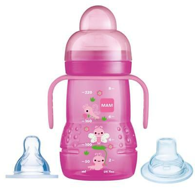 MAM Trainer Cup 2 in 1 Pink 220ml