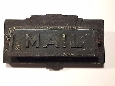 VINTAGE 1930's  Brass Mail Slot Flapper, letter sized. Unrestored