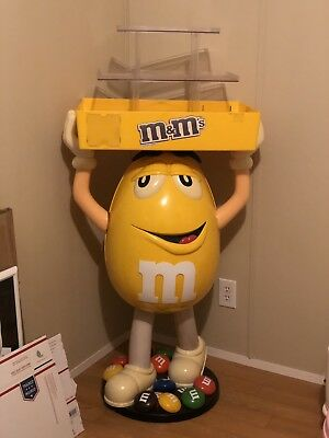 Vintage M&M Candy Yellow Character Figure Store Display w/Trays