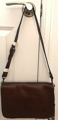 4f39485d1 Patricia Nash NEW Brown Leather Vito Small Flap Crossbody Bag Purse $149