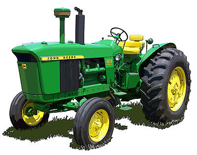 John Deere Model 4010 Standard canvas art print by Richard Browne farm tractor