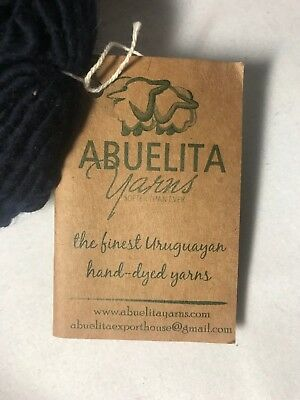 Abuelita Yarns, Hand Dyed, Merino Worsted, Color: Blue Solid