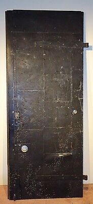 Industrial Fire Door metal skin - Industrial Desk Top conversion Black Old Mill