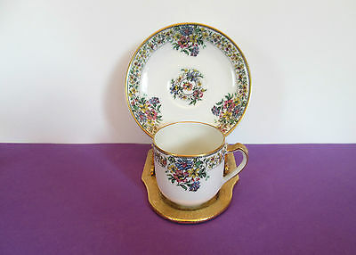 Haviland White Porcelain Demitasse Cup and Saucer Set, France