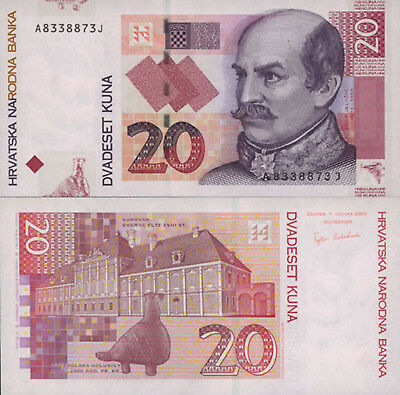 Croatia 20 Kuna (2001) - General/Pottery Dove/p39a UNC