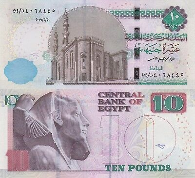 Egypt 10 Pounds (2017.2.21) - Revised Note/p72-New UNC