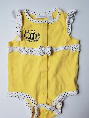 0e7adf7261ff Baby Girls First Impressions Bee Happy Romper Size 6-9 Months