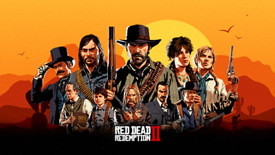 Red Dead Redemption 2 Poster  Print Vinyl Wall Sticker Various Sizes