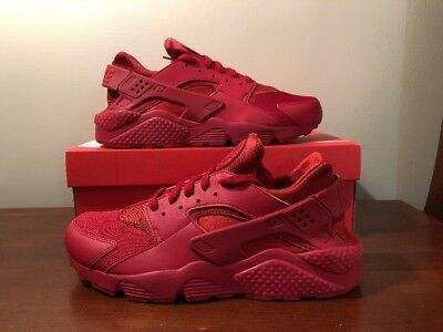 6c8252ce89 NIKE AIR HUARACHE Triple Varsity Red October 318429-660 Size 10.5 ...