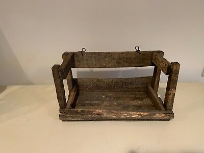 Rustic Wood Shelf Crate Farmhouse Distressed Bohemian Country Home Decor NEW!!!
