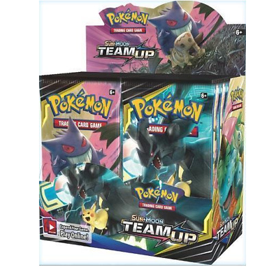 Pokemon Team Up Booster Box Factory Sealed Sun & Moon