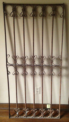 REDUCED Antique Architectural Salvage Wrought Iron Gate
