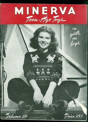 1945 Minerva Knitting Pattern Book Teen Age Togs