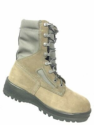 5c466abe7c96 WELLCO Women Military Combat Boots Sz. 6W Hot Weather S160F Sage Suede New   162