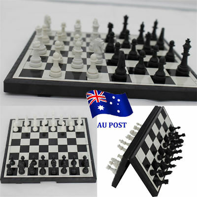 Magnetic Folding Chessboard Chess Board Box Set Portable Kids Game Toy Puzzle VW