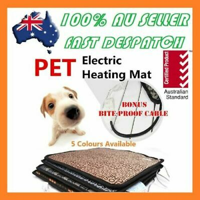 2018 Pet Electric Heat Heated Heating Heater Pad Mat Blanket Bed Dog Cat Bunny V