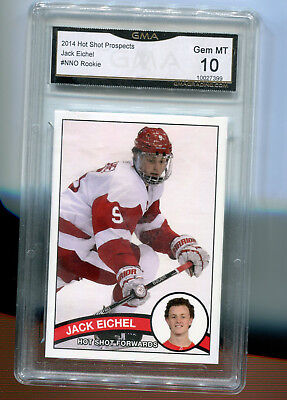 2014 Jack Eichel Hot Shot Prospects Rookie Gem Mint 10