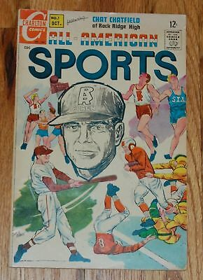 ALL AMERICAN SPORTS #1 Silver Age Charlton Comic Baseball Football Basketball