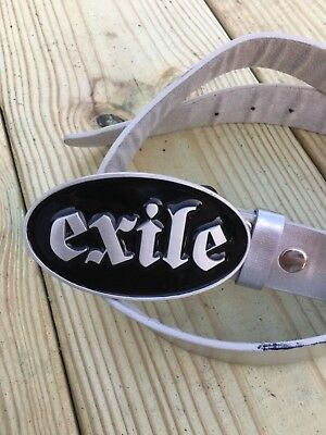 Exile Cycles Belt Buckle - Motorcycle - Russell Mitchell- Custom Bike - Chopper