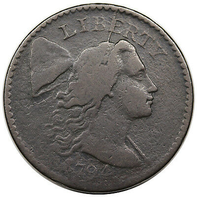 1794 Liberty Cap Large Cent, Head of 1794, S-49, VG+ detail