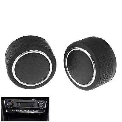 2Pcs Car Rear Radio Air Conditioner Volume Control Knob Button For GMC Chevrolet