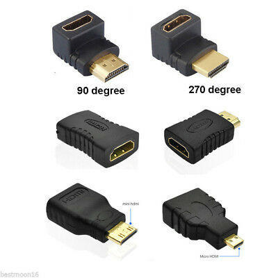 8 Styles HDMI Male to Female Extension Adapter Converter Micro Cable Connector~