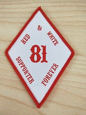 RED&WHITE SUPPORTER 81 DIMOND patch  1%er badge HELLS ANGELS  patch