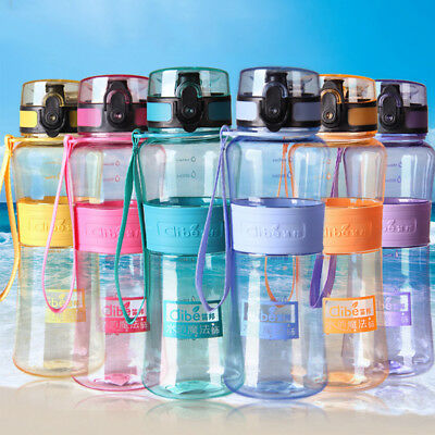 Water Bottles Sport Seal  Nozzle Leak-Proof Plastic Cover Lip  Large Capacity