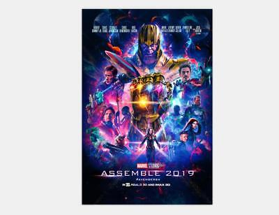 New Avengers 4 Movie 2019 The End Game Captain Marvel - 24x36 48x32 Poster Y-059