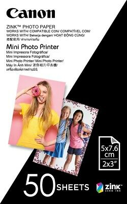 "Canon new Mini Photo Printer Paper 2""x3"" (50 Sheets)"