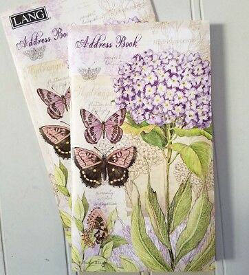 "Field Guide ~ Lang Pocket Address Book ~ 3.5"" x 6.5"" Purse Size ~ Buy 2 Save!"