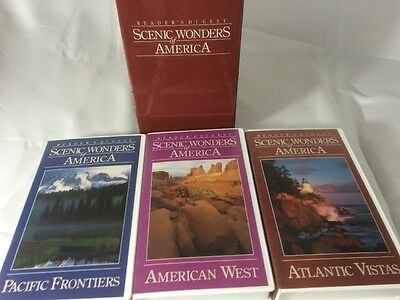 Video Set 3 VHS Tapes Readers Digest Scenic American Wonders 1991 Estate