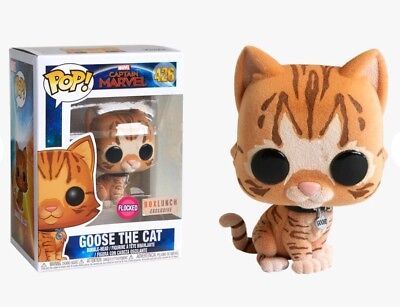 Funko Pop! Captain Marvel 426 Goose The Cat Flocked BoxLunch Exclusive In Hand!