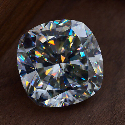 Loose Moissanite 1ct 2ct 3ct Cushion Brilliant Cut Grey Color For Jewelry