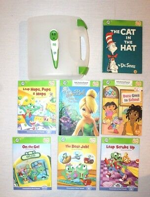 7 Leap Frog Tag Reader Books & Stylus Pen Interactive Reading System & Case NICE