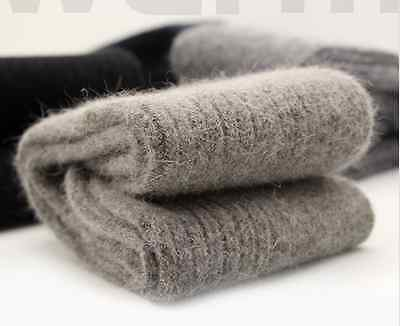 3 Pairs Angora 100% Wool Cashmere Thick Socks Mens Warm & Comfortable & Winter