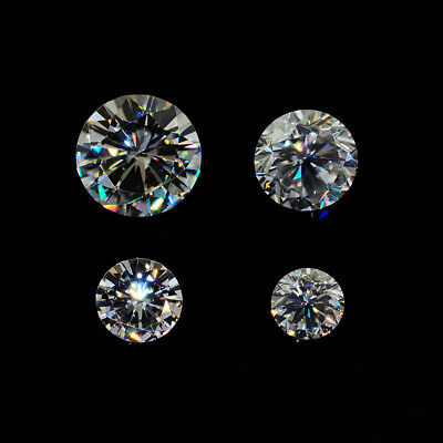 0.16-3.3Ct  GH Color Round Cut  Moissanite Stone Loose Diamond 100% Real