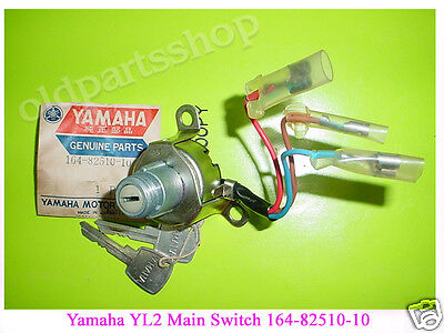 Yamaha YL2 Main Switch with Keys 1967-68 NOS YG5 L5 Ignition SWITCH 164-82510-10