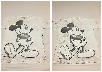 MINT Vtg 80s 90s Disney Mickey Mouse 2 Sided All Over Made In USA T Shirt XXL