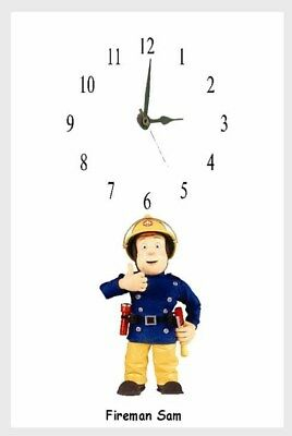 Fireman Sam Wall clock  Personalised free with name