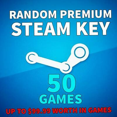 50 x Random Steam Keys + 1 Diamond Key | Value Up to +$99