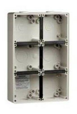 Clipsal INDUSTRIAL MOUNTING ENCLOSURE 294x198x63mm 6-Gang, Grey *Aust Brand