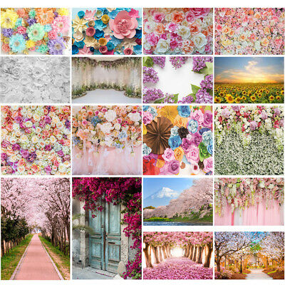 Wedding Floral Flower Photo Backdrop 5x7/8x8/10x10FT Photography Background Prop