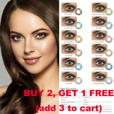 Natural Plain Soft Glass Contact Lens Men Women Party Eye Beauty Makeup Eyewear