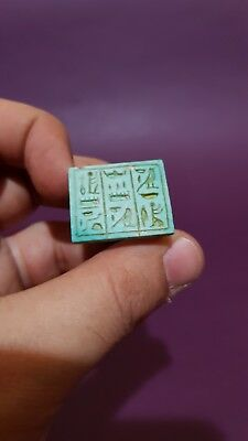 RARE ANCIENT EGYPTIAN ANTIQUES Hieroglyphic RING Talisman Egypt STONE BC